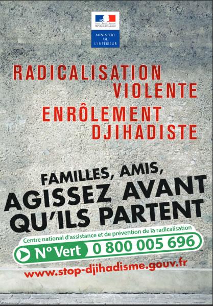 affiche radicalisation